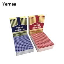 Yernea 4Sets/Lot Poker cards Classic porker card set Texas Plastic playing Waterproof Frost pokerstars Board games