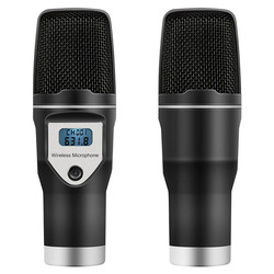 USB Wireless Microphone Home Studio Condenser Mic for Recordings Podcast Voice Search Games HSJ-19