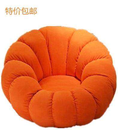 Beanbag Fabric Single Creative Cute Casual Fashion Personality Pumpkin Small  Sofa Sofa Chair Bedroom