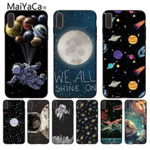 MaiYaCa Outer Space Planet Spaceship Constellation for iPhone 5S 6S Plus X XR XS MAX Black Soft Shell Phone Case Rubber Silicone(China)