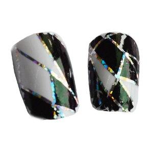 Image 2 - Adornos de decoración para uñas transferencia pegamento láminas pegatina adhesivo de uña pegamento calcomanías Glitter manicura herramientas LAXK11, 100cm x 4cm