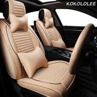 Kokololee сиденья для audi A4 A4L A6 A6L Q3 Q5 100 A1 A3 A5 A6 A7 A8 Q3 q7 TT R8 пользовательские чехлы на сиденья Сулл комплект Обложка