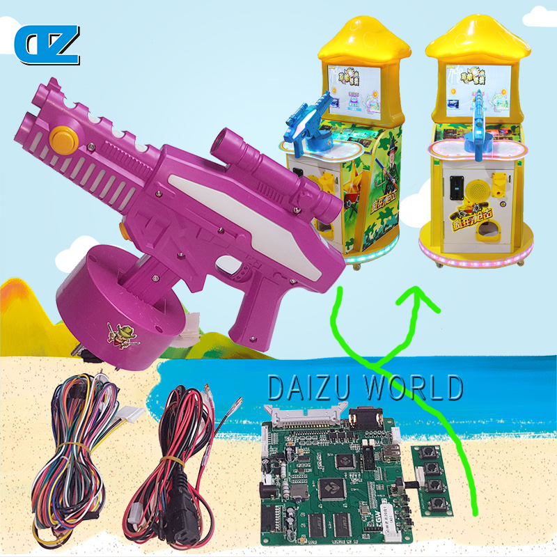 Gun Forest Bullet The Rain main board with gun for Children Coin operated Kiddy arcade machine