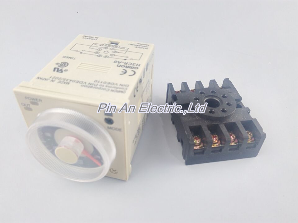 H3CR-A8 8 pin AC/DC 24-240V time relay 24-240VAC/24-240VDC timer free shipping new h3cr a8 multifunction timer time relay with 8 pin socket multi functional timer 100 220vac dc