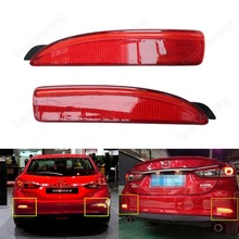 2x Red Rear Bumper Reflector LED Tail Stop Light DRL Mazda 2 5 6 Mazda3 BK BM 4D(CA240)
