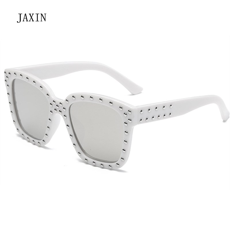 JAXIN 2019Fashion Square Sunglasses Boy Big Frame with Drilled Sunglasses Girl Trend New Kids Sun Glasses Outdoor Travel Goggles in Sunglasses from Mother Kids