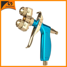 Manual Spray Gun Dual Nozzle Double Painting Sprayer SAT1204