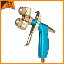 Manual Spray Gun Dual Nozzle Spray Gun Double Nozzle Painting Gun Sprayer SAT1204 все цены