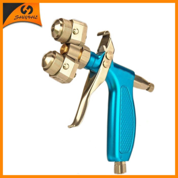 цена на SAT1204 Manual Spray Gun Dual Nozzle Spray Gun Double Nozzle Painting Gun Sprayer