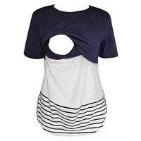 2018 Summer Cotton Nursing Clothes T-shirt Simple Breastfeeding Nursing Clothes Breathable Maternity Nursing Tops Size S-2XL