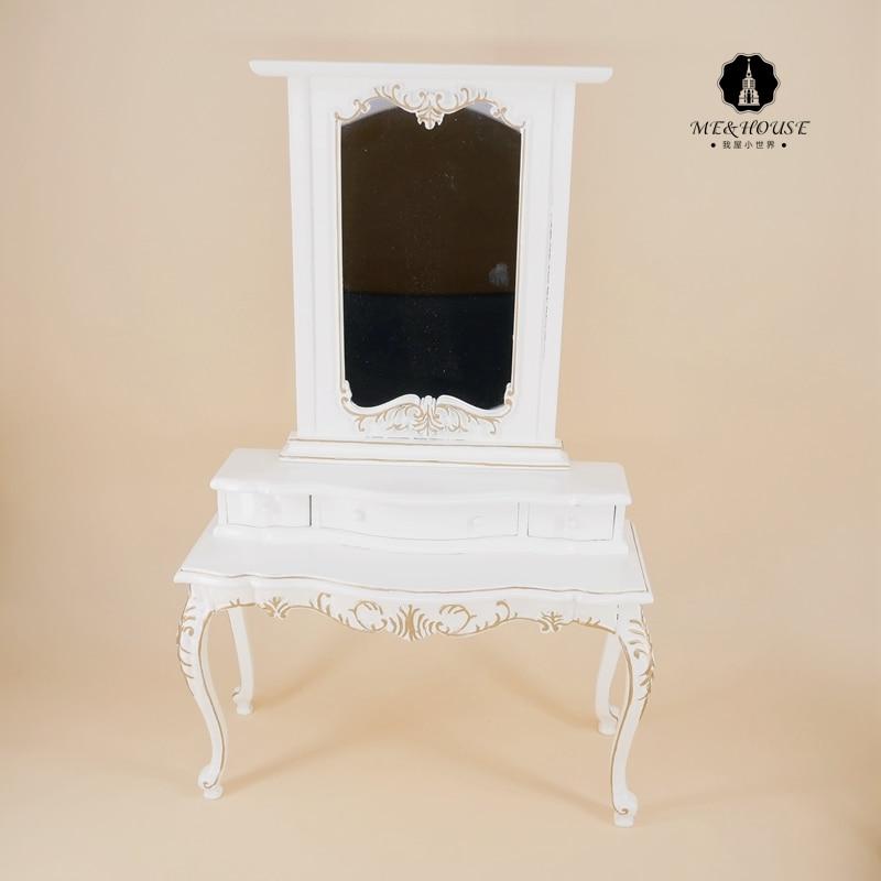 1/6 échelle nouvelle BJD maison de poupée en bois commode Miniature à la main semblant Mini meubles poupée meubles coiffeuse