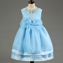 Baby Girl Toddler Princess Dress Little Girls Wedding Dresses Birthday Party Lace tutu Bow Ball Gown Clothes for Kids age 2 3 4