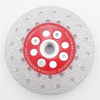 DIATOOL 1pc Double Sided Vacuum Brazed Diamond Cutting Grinding Disc With M14 Thread Premium Quality