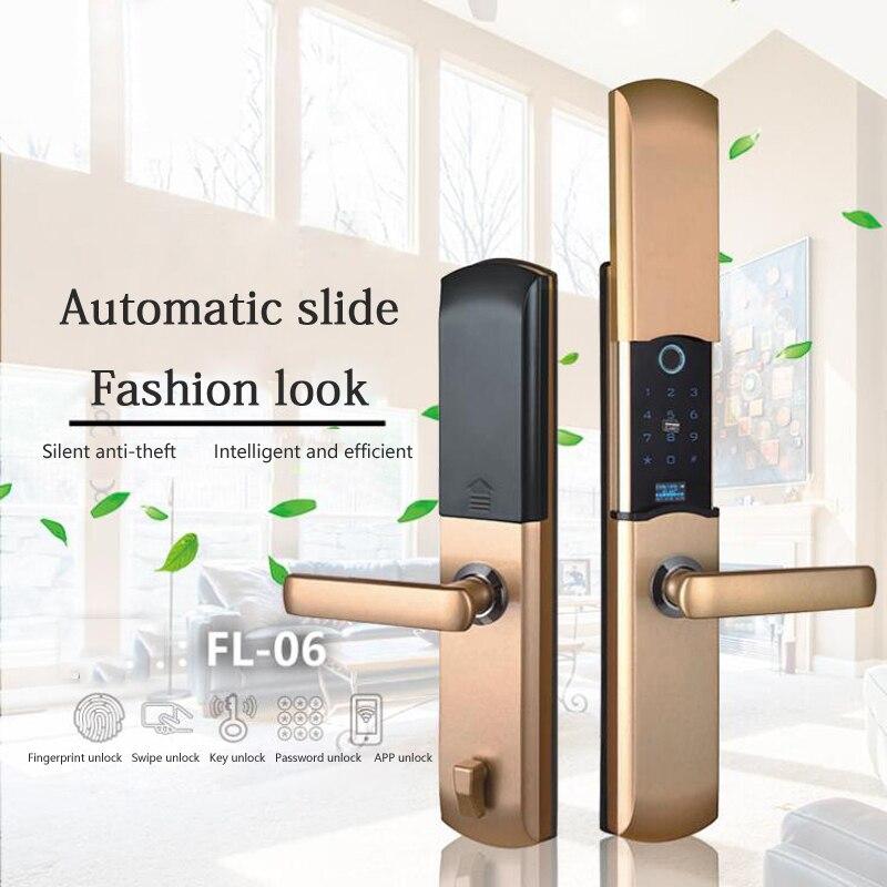 OBTNL FL06 D'empreintes Digitales serrure anti-vol glisser semiconductor d'empreintes digitales mobile téléphone app maison intelligente IoT smart lock