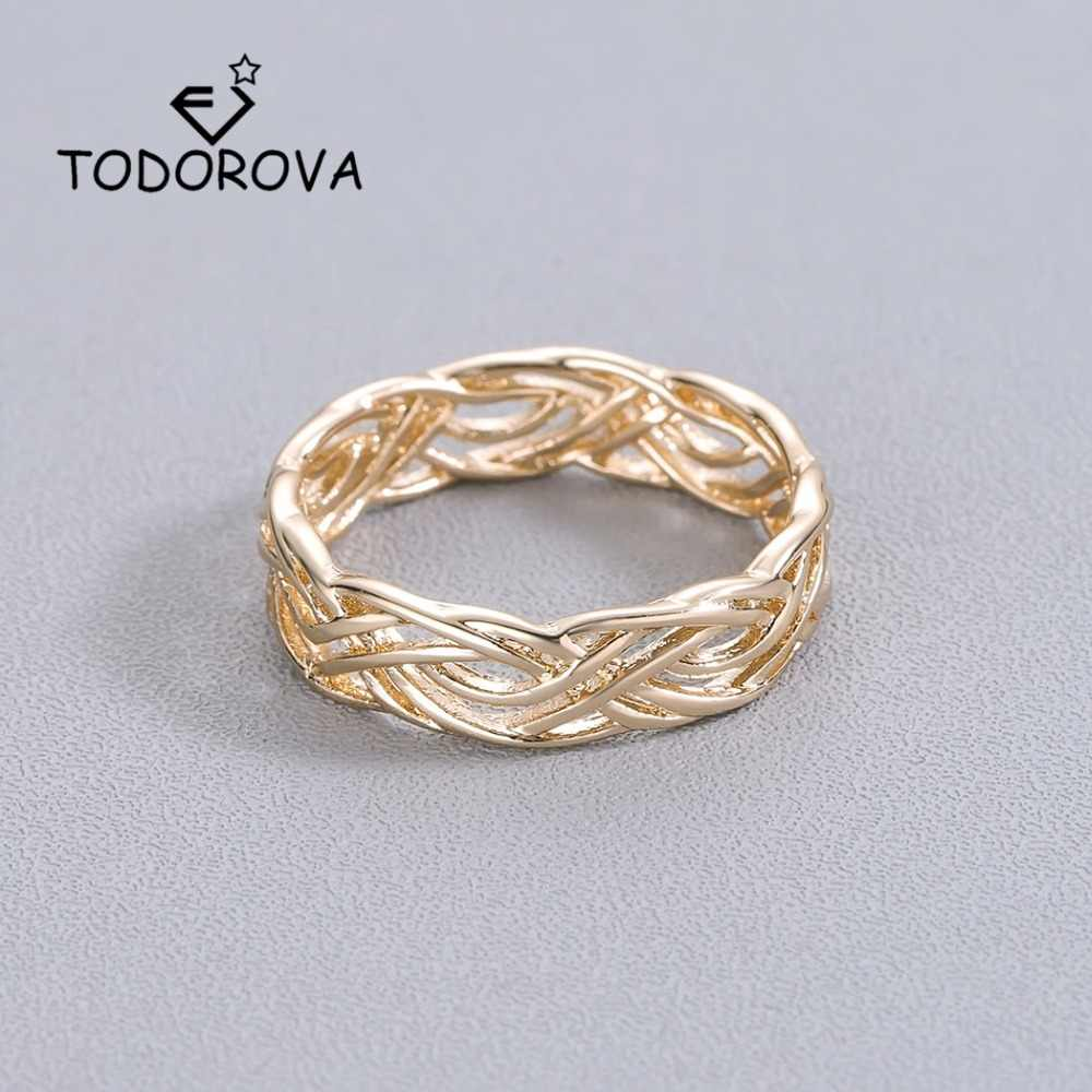 Todorova Simple Stainless Steel Rings for Women Accessories Engagement Wedding Rings Geometric knuckle Rings Men Jewelry