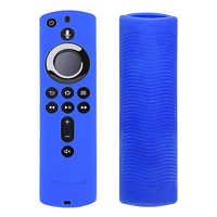 Durable Silicone Shockproof Soft Accessories Anti Slip Home Lightweight Remote Control Cover Lattice Design For Fire TV Stick 4K