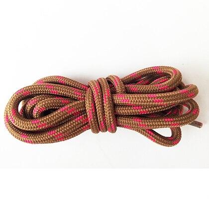 100-160 см спортивные круглые шнурки, 17 цветов, кроссовки, белые шнурки, спортивная обувь, шнурки, спортивная обувь, обувь для скейта, шнурки - Цвет: brown rosered
