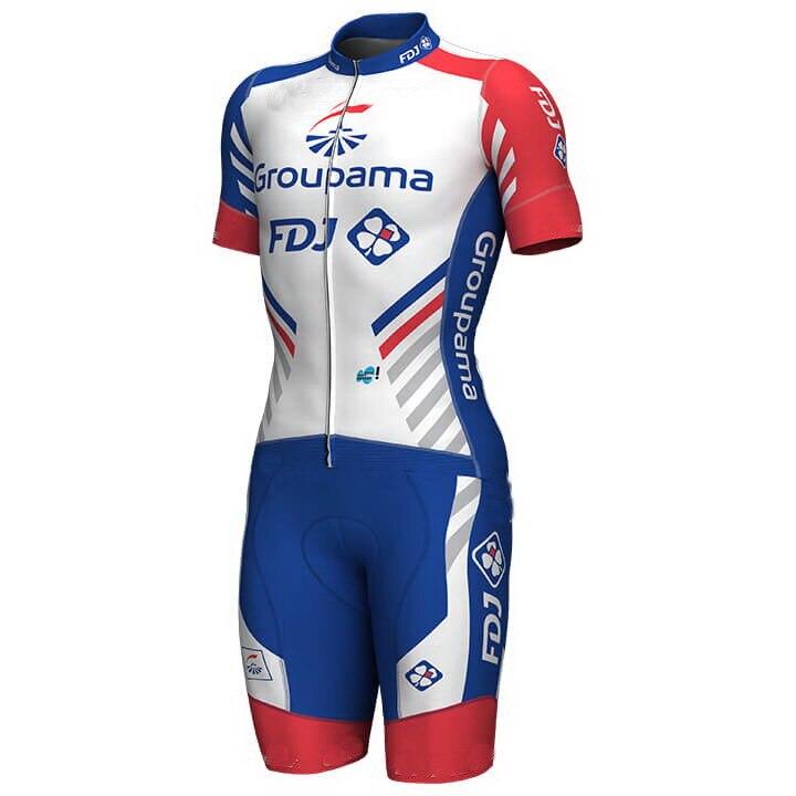 2018 Groupama FDJ PRO TEAM Skinsuit Bodysuit Summer Cycling Jersey Sets MTB Bike Bicycle Clothing MTB