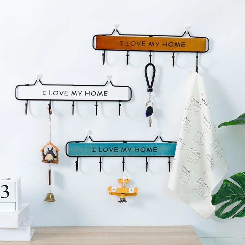 Vintage Key Holder Clothes Storage Hook Wall Hanging Hanger Home Decor Hanger Accessories Hooks Coat Hooks Rack|Hooks & Rails| |  -
