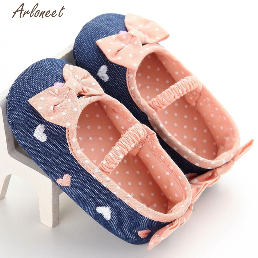 2017 FASHIONBaby Infant Kids Girl Soft Sole Crib Toddler Newborn Shoes