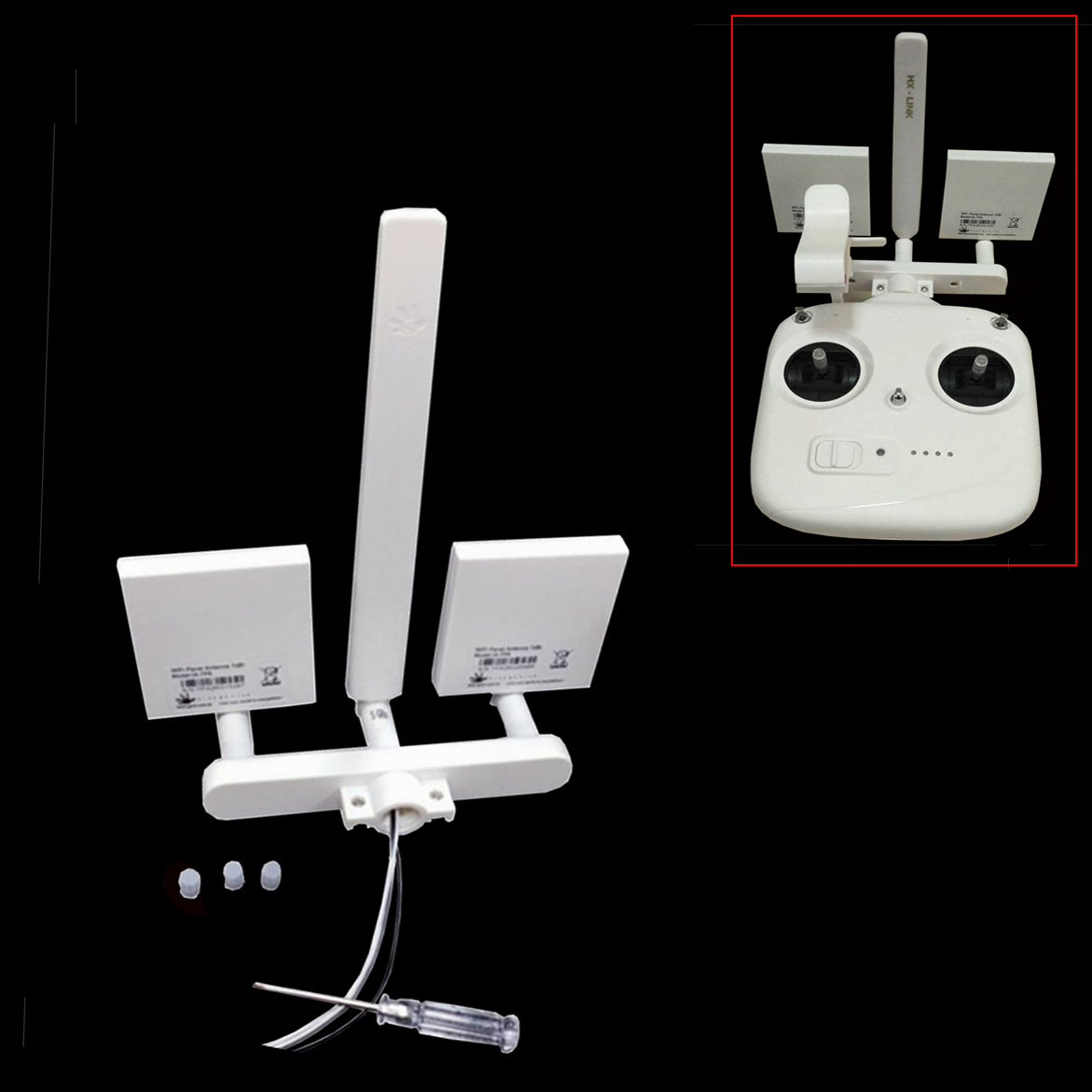 ARGtek DJI Phantom 3 Standard WiFi Signal Range Extender Antenna Kit 7dBi