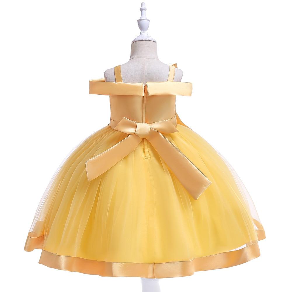 Новинка; стильное платье на бретельках с одним персонажем для свадебной вечеринки для девочек; бальное платье с бантом и жемчужинами и цветами для банкета; vestidos