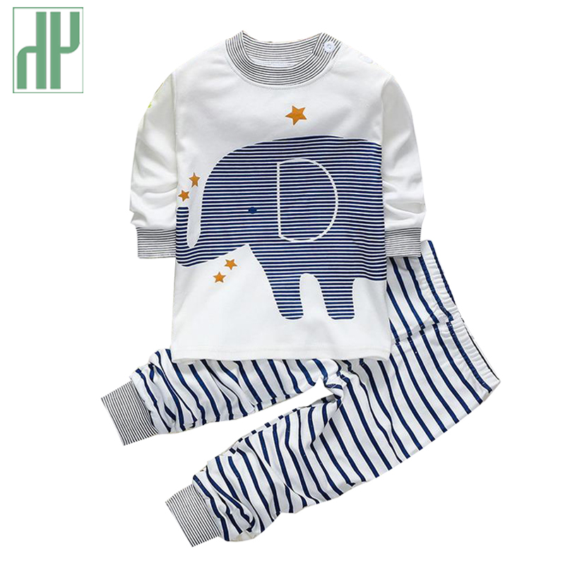 Spring infant baby boy clothes brand cotton animal elephant suit newborn baby girl clothes outfits pajamas sports suit 2pcs sets