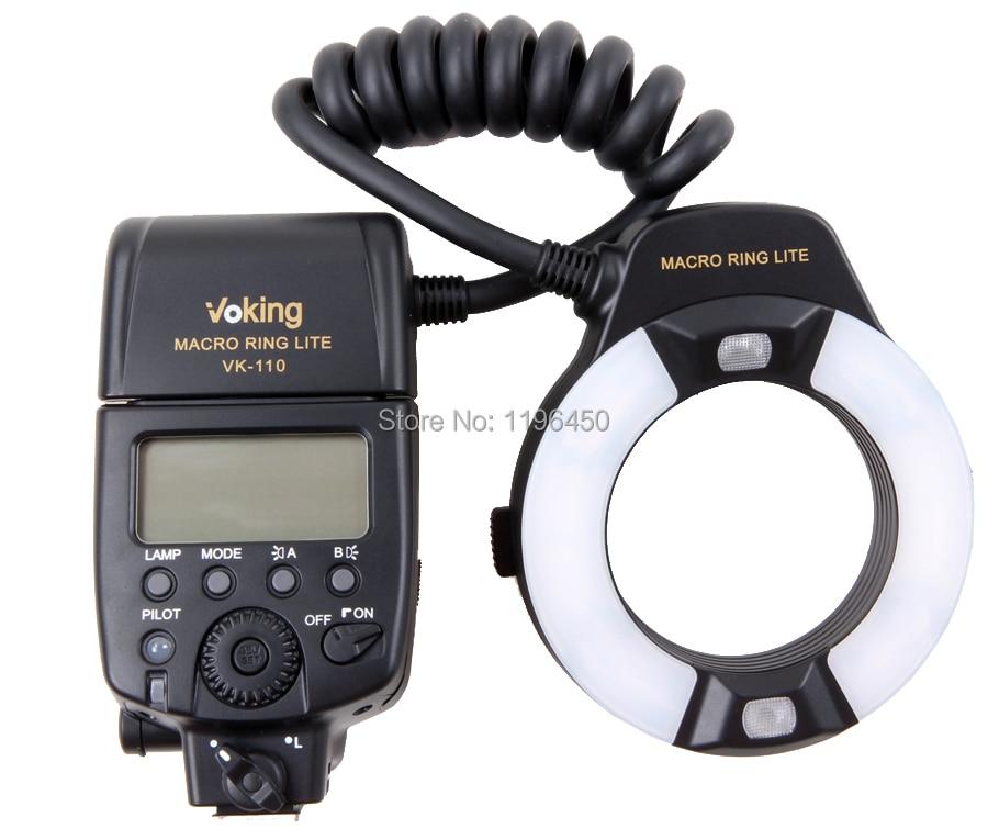 Voking TTL Macro LED Ring Flash VK-110N for Nikon D60 D90 D3000 D3100 D3200 D5000 D5100 D5200 D7000 D7100 DSLR Cameras