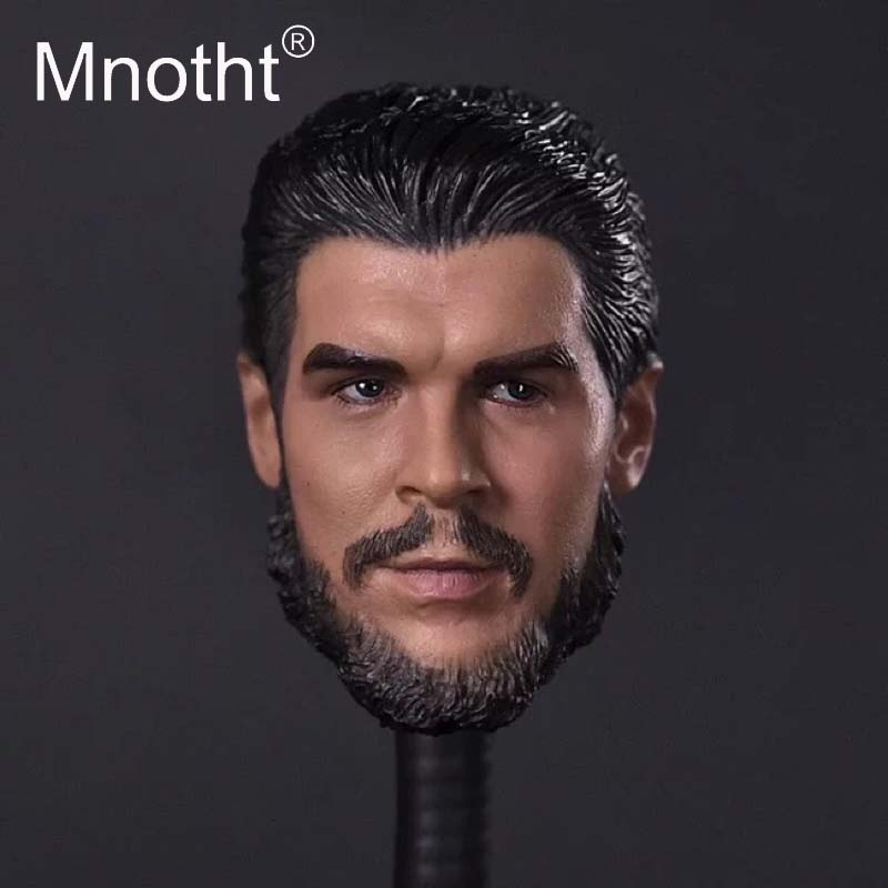 Mnotht El Che Head Model Guevara 1:6 Male Soldier Head Sculpt for 12inch Action Figure Toys Collection Revolution Hero Carving