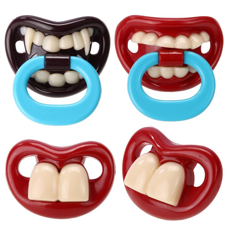 Funny Baby Pacifier Silicone Baby Nipples Teether Soothers Pacifier Baby Dental Care Nipple Teethers Toddler Pacy Orthodontic