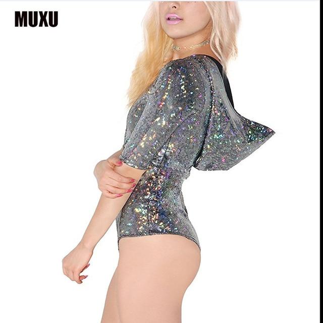 48d23a4292a rainbow glitter summer combi short dete femme plus size v neck jumpsuit  sexy womens bodysuit rompers