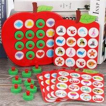 Детские деревянные шахматные игры Apple Memory, раннее образование, 3D головоломка, семейные повседневные игры, головоломка, Идеальный Рождественский подарок