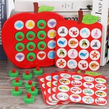 Juego de ajedrez de madera con memoria de Apple para niños, rompecabezas 3D educativo temprano, juegos casuales familiares, rompecabezas Ideal para regalo de Navidad
