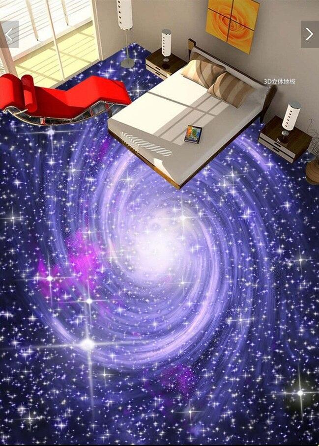 3 d pvc flooring custom waterproof picture 3 d Space star