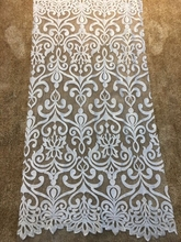 French  lace fabric 150cm ivory diy exquisite lace embroidery clothes wedding dress accessories 110cm wide wedding dress lace embroidery diy women clothes materials clothing fabric accessories ivory white church happy hour