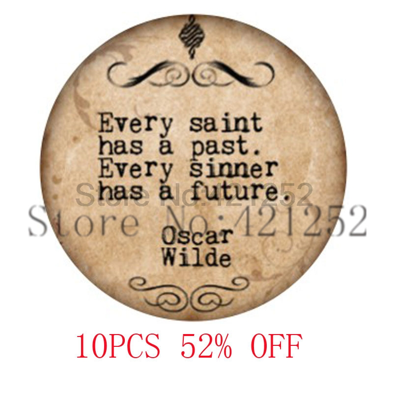 witty poet Every Saint Has a Past Every sinner has a future glass Photo cabochon necklac ...