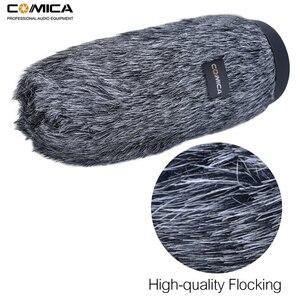 Image 3 - Comica CVM MF5 mikrofon wind muff na świeżym powietrzu szyby przedniej martwy kot do Rode XLR kamery Mic