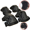 CS Game Military Tactical Sports Climbing 4Pcs Knee Elbow Pad Airsoft Paintball Combat Leg Arm Protector Brace Support Kneepads