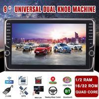 Автомобильный мультимедийный плеер 9 1G + 16G/2G + 32G для Android 8,1 стерео с двойной ручкой Wifi bluetooth gps Nav четырехъядерный fm радиоприемник