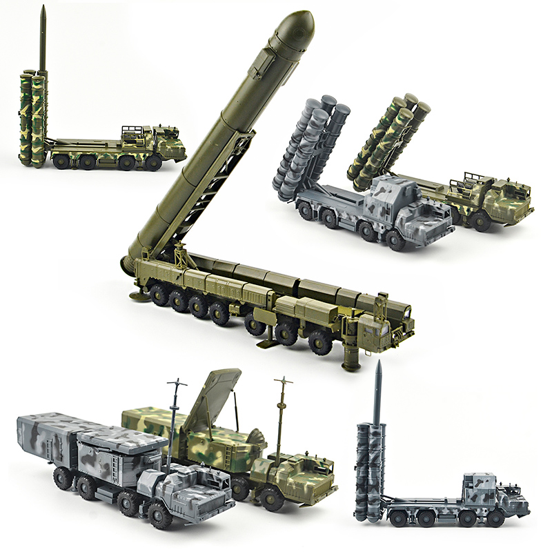 1/72 4d Assemble military S-300 Ballistic missile system SA-10 Grumble RT-2PM Topol Diecasts truck model building toys set