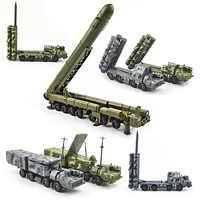 1/72 4d montażu wojskowy S-300 rakiet balistycznych system SA-10 narzekać RT-2PM topola Diecasts model ciężarówki budynku zestaw zabawek