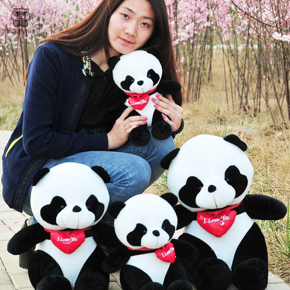 BOLAFYNIA сидя в любовь панда детские плюшевые игрушки детский день рождения Рождественский подарок мягкие игрушки