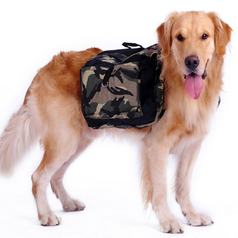 Outdoor Large Dog Bag Carrier Backpack Saddle Bags Camouflage Travel Carriers For Hiking Training Pet Product In From Home