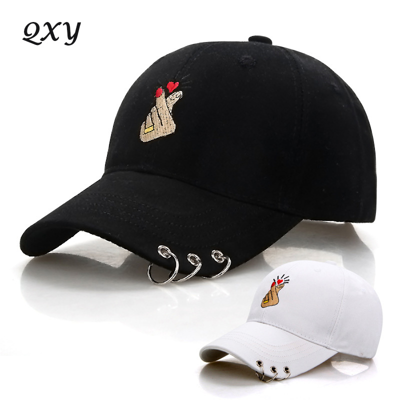 men women outdoor sports baseball cap snapback fashion star hat finger iron ring casual adjustable sun hat cotton dad caps S5888 fashion rivets cotton polyester fiber men s flat top hat cap army green