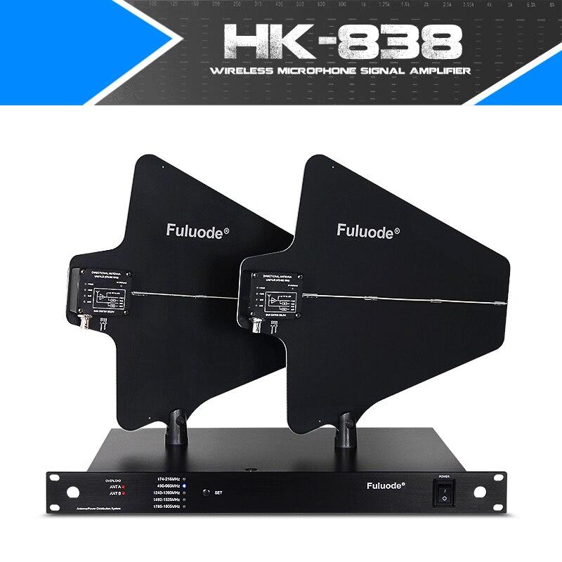 Sans fil microphone amplificateur antenne de réception amélioration du signal distance de 400 mètres peut être connecté avec 10 microphone