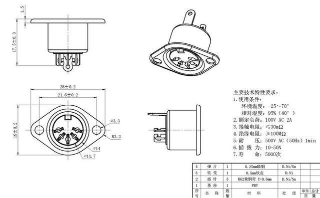 Din Socket Fixed 5 Pin Female Inline Din 5 19m Plug Socket
