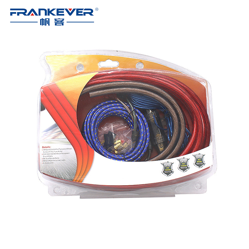 Frankever HIFI 4GA Audio Cables Power Amplifier Car Speaker Woofer Subwoofer RCA Cables Power Line Fuse Suit