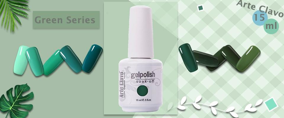 Arte Clavo Nail Gel Varnish Uv Led Lamp Blue Color 15 Ml Soak Off Nail Art Lacquer Gel Nail Vernis For Manicure Gel Nail Polish Nail Gel Aliexpress
