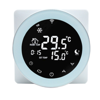 Wifi Thermostat Alexa 16A Electric Heating Programmable Digital Google Home LCD Touch Screen Smart Voice Convex Thermostat Home