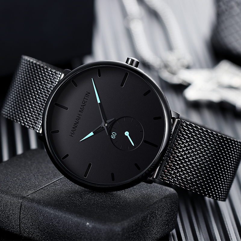 Dropship 2019 New Simple Design Waterproof Stainless Steel Mesh Small Dial Men Watches Top Brand luxury Quartz relogio masculino 1